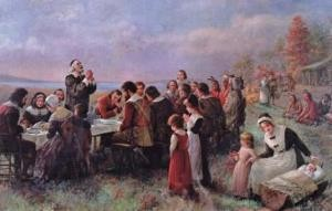 the first thanksgiving at plymouth jennie brownscombe