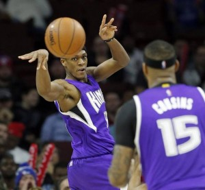 rondo passing to demarcus cousins