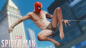 spiderman in his underpants