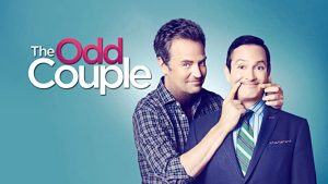 a poster for the series the odd couple with stars matthew perry & tom lennon