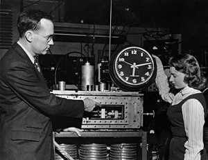 the first atomic clock leap second