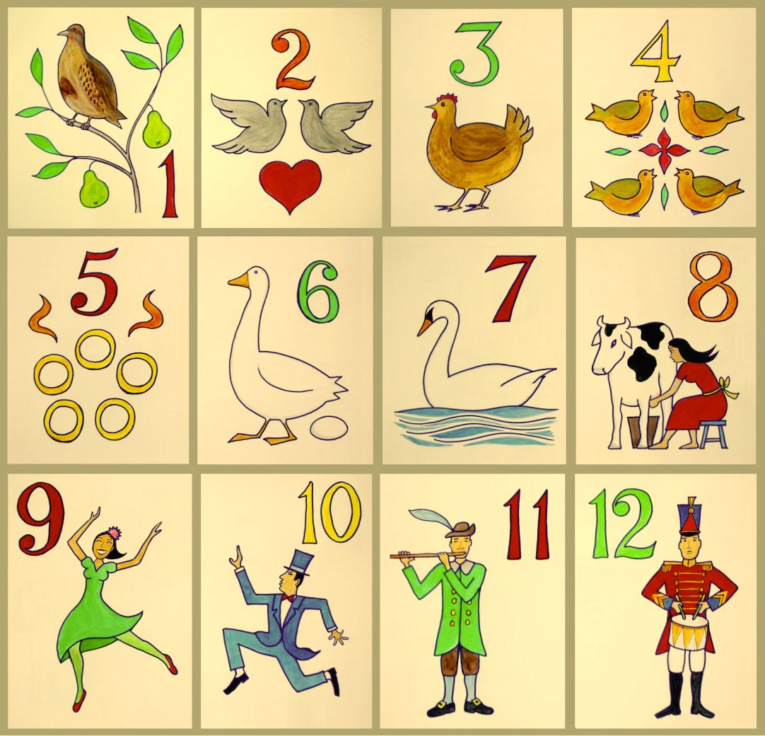 visual of the 12 days of christmas