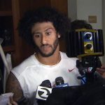 colin kaepernick sits down to protest racist police brutality