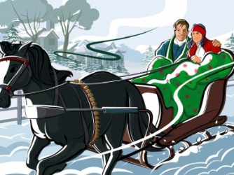 gliding in a one-horse sleigh is a swell time