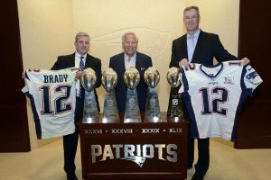 patriots ownver robert kraft with the recovered jerseys