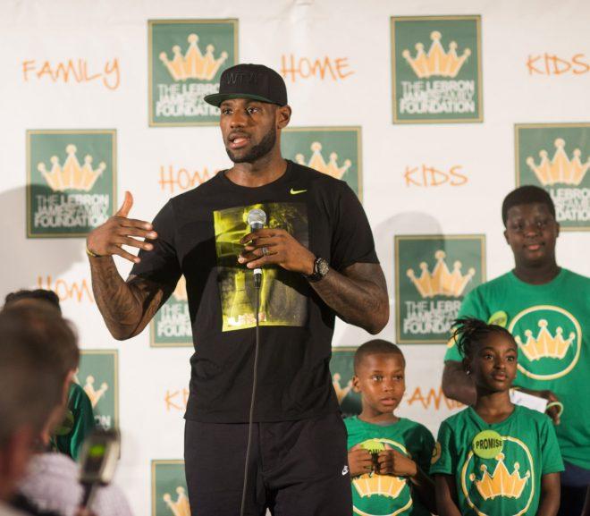 lebron james talking to kids