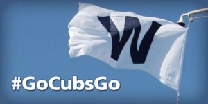 flying the w at wrigley field